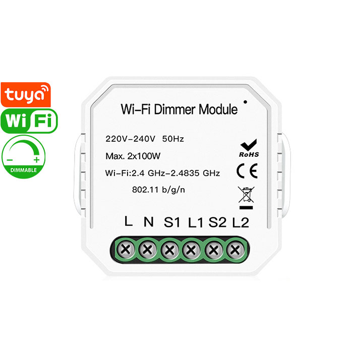 QS-WIFI-D02-2C Tuya Smart Wi-Fi Dimmer Module